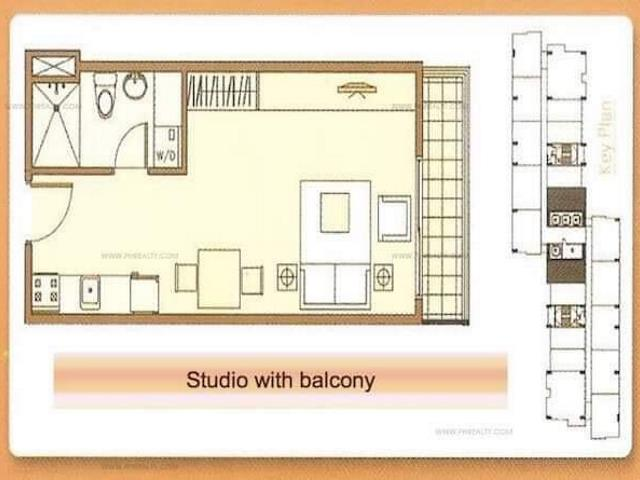 Executive Studio Unit with Balcony