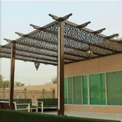 بيع وتركيب مظلات حديد طابع خشبي في الرياض|تركيب مظلات وبرجولات معدنية باحدث التصاميم بأرخص الاسعار 0558883925