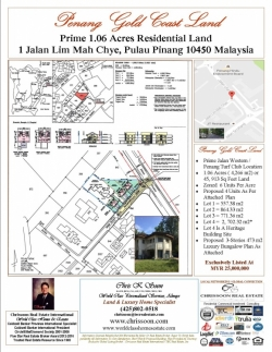 Penang 1.06 Acres Gold Coast Land For Sale