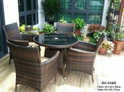 Outdoor Wicker Dining Set Zebano