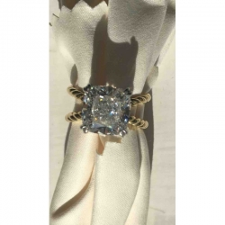 SOLITAIRE YELLOW GOLD RING 59