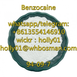 Benzocaine Crystal Powder Raw Powder 94-09-7 Benzocaine 100% Safety Europe/Us/Ca Pass Customs