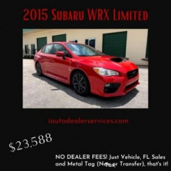 Subaru WRX Limited For Sale